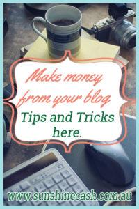 Making money blogging.